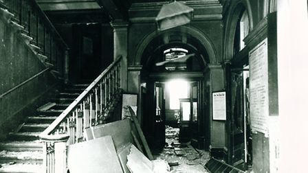 Bomb damage at Canning Town Library. Picture: Newham Archives and Local Studies Library/Image availa