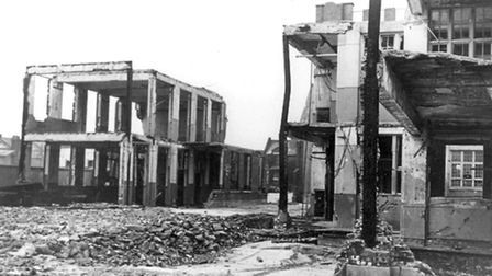 Bomb damage at South Hallsville School. Picture: Newham Archives and Local Studies Library/Image ava