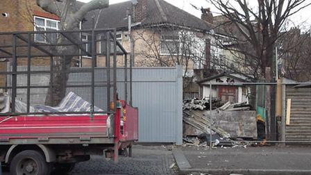 The asbestos rubbish fly-tipped by Tooray