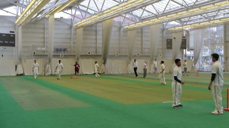Newham College finished runners-up in the AoC Indoor 24 National Cricket Finals (pic: Zaheer Daleel)