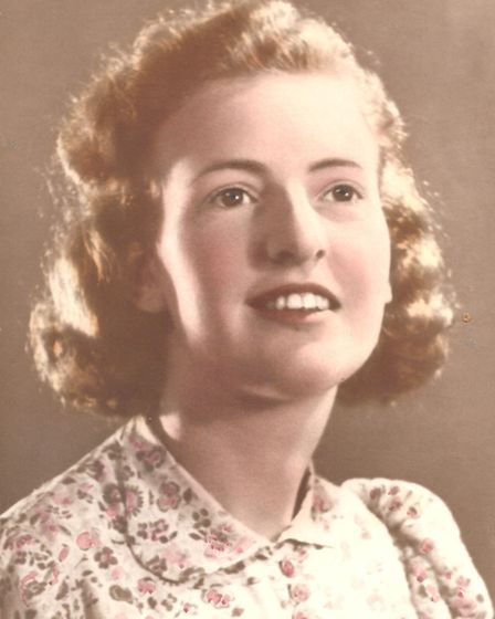 Nora Gotts photographed at a similar age to when she worked as a codebreaker at Bletchley Park. Pict