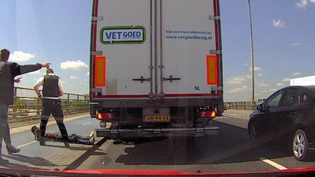 Man pulled fron under lorry between Barking and Beckton
