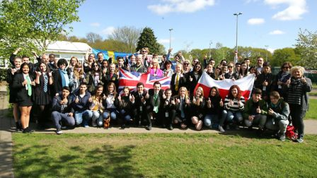 50 international students visiting Bower Park Academy as part of their British Council exhange progr