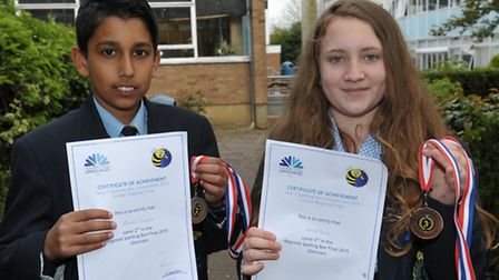 Ashay Sharma and Emma Bone competed in the national spelling bee competition