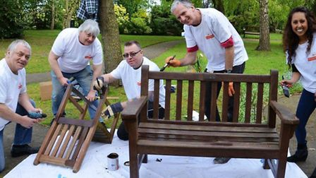 The Royal Mail team at St Francis Hospice