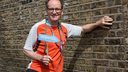 Dr Ciaran Joyce, who will be running from London to Brighton to raise money for Magoma Trust.