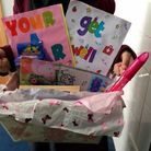 One of the gift packages delivered to children wards by pupils from Azhar Academy Girls School, For