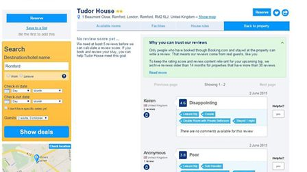 Reviews appeared for the hotel on June 2