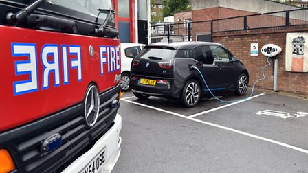 A vehicle charging point can now be found at East Ham