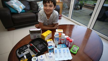 Lorenzo Amato, 11 has type 1 diabetes and has a special pump which is an alternative treatment to th