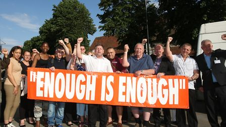 Cllr Jeff Tucker organised a mass protest to urge the council to do something about an increase in b