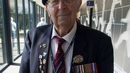 Veteran Len Brace, from Clayhall, photographed at Arnhem, in the Netherlands, during a trip commemor