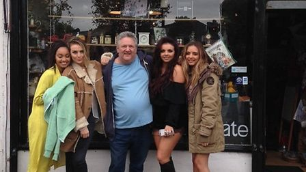 Business owner jeff Levi with Little Mix