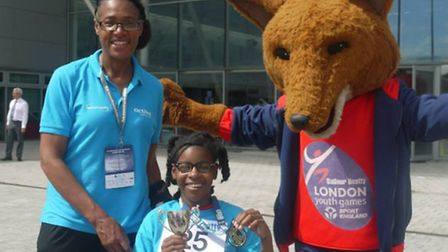 Newham coach Coral Nourrice and a member of the successful girls squad (pic: LYG)