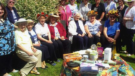 Members of the Royal British Legion's women's section at the fancy hat coffee morning