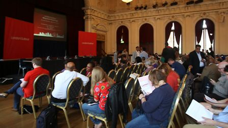 Labour supporters filled the Old Town Hall
