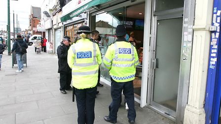 Ilford Lane action day - enforcement officers from all different departments such as street cleaning