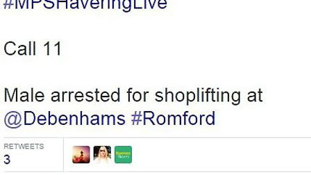 A shoplifter was caught in the act