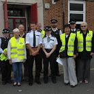 Streetwatch volunteers with police officers