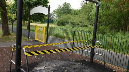 Play area in Central Park Harold Wood has been damaged by an arson attack