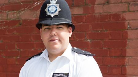 PC Robert Sewell (aged 24), who has just become a Police Constable.