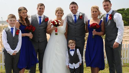 Melanie and Lee Cook with Jessica (second left) and family. Picture: Christoforos Lysis