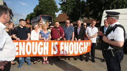 The office was unmanned just days after Rainham residents protested for better policing in the area