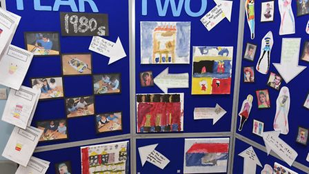 Brampton Primary School pupils pay tribute to the decades the school has stood