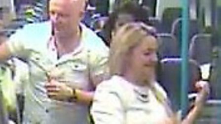 Officers want to speak to this couple following reports of inappropriate behaviour on train