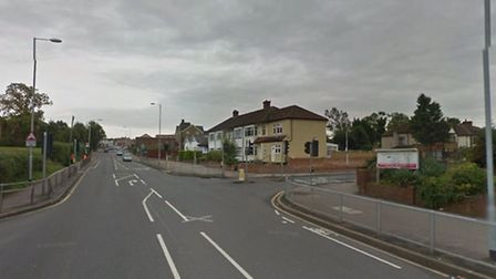 The man died at the junction of Hornchurch Road and Albany Road (Photo: Google StreetView)