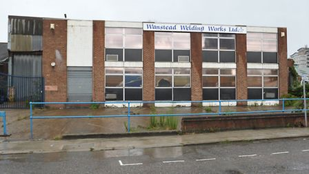 The warehouse in Cooks road where Michael McMahon was found injured