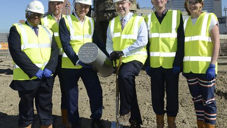 The time capsule was buried to mark the start of construction work at The International Quarter