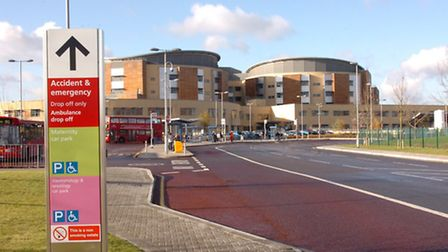 Queen's Hospital, in Rom Valley Way, Romford, which is run by the Barking, Havering and Redbridge Un