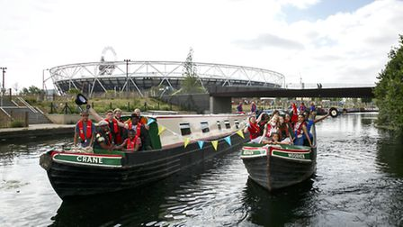 LONDON, ENGLAND - JUNE 27: Canal & River Trust launches pioneering new youth arts project which thi