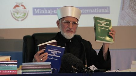 Dr Qadri hopes his works will be used as a way of fighting extremism (Pic by Suleman Hussain)