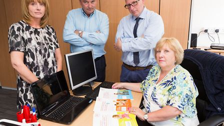 Administrator, Patricia Robertson; Financial Director, Paul Masterson; Director, Clive Jelf; Chair,