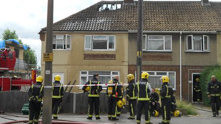 A man and his dog reportedly escaped from the fire in South Hornchurch