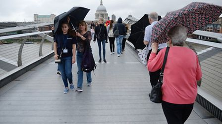 London is set to experience torrential downpours and strong winds from tomorrow (Picture: PA Images)