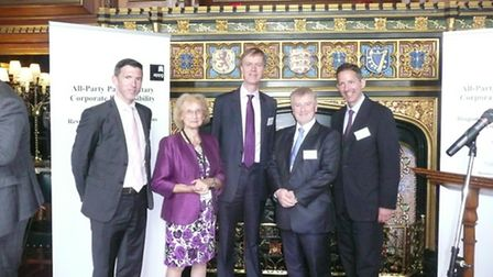 Left to right: Joss Clarke (Head of EU and UK Public Affairs at National Grid plc.) Baroness Greengr