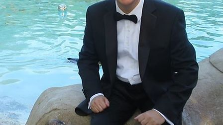 Andrew Rosindell with a penguin