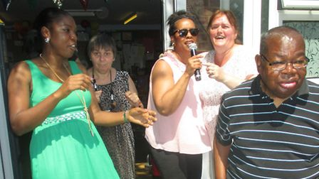 Karaoke was one of the activities on offer at the Sahara Lodge Open Day