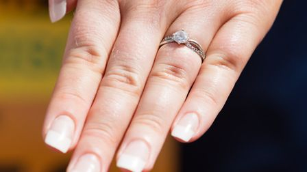 Katie Perry's engagement ring.