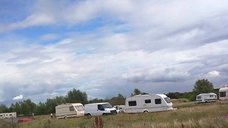 Travellers on Ingrebourne Hill. Picture: Andrew Berwick