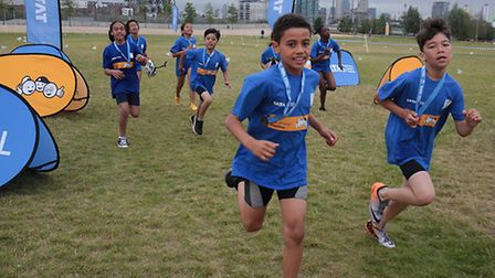 Young triathletes take part in Tata Kids of Steel