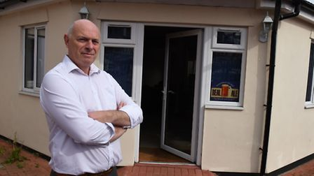 Bob Knowles outside his Micropub in Upminster which is facing planning objections from the council