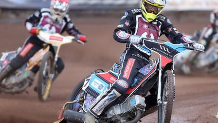 Adam Ellis had his best night for Lakeside Hammers with a paid 14 haul againsdt Belle Vue (pic: Rob