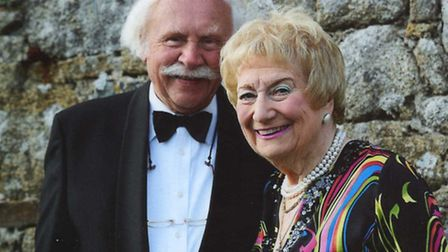 Eric Parrish, 84, with his wife Maureen, celebrating their Diamond wedding anniversary last year in