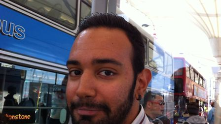 William Ciussreda, 23, had just arrived at the bus station after an overnight shift in Clapham Commo