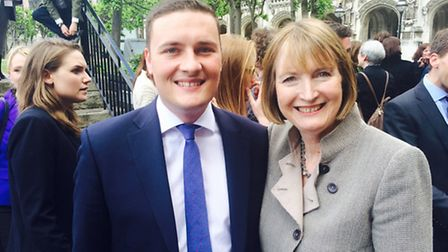 Ilford North MP Wes Streeting, left, with Labour's interim leader Harriet Harman, right, who tabled