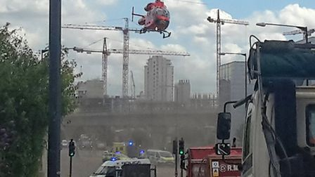 Accident between lorry and pedestrian in Silvertown (Pic credit: Robin Gray)